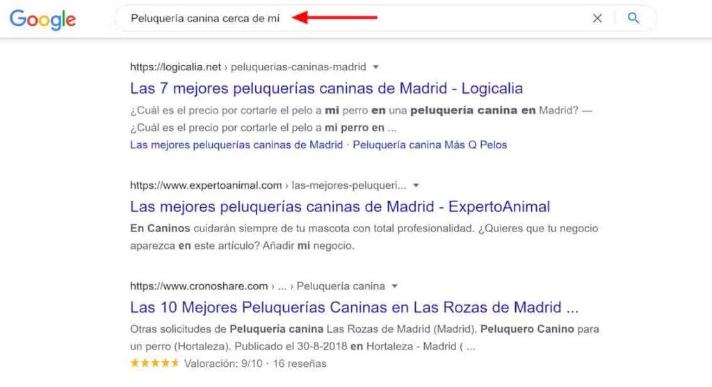 qué es el SEO - Resultados de la búsqueda en Google